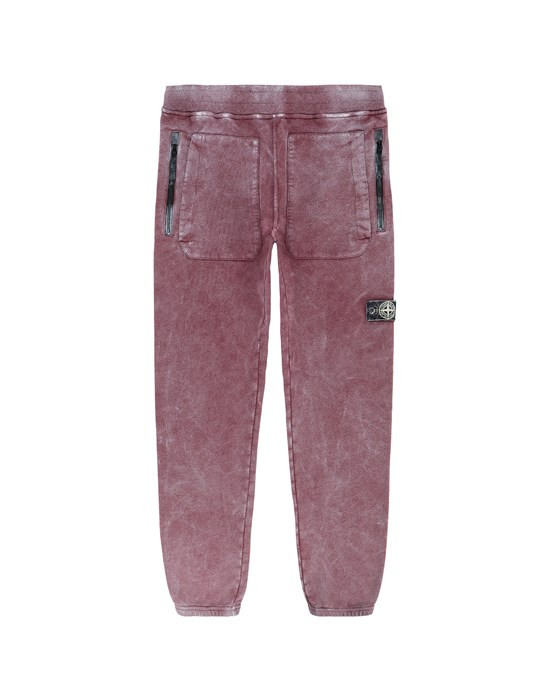 STONE ISLAND JUNIOR 60941 DUST COLOUR Fleece Pants Man Dark Burgundy