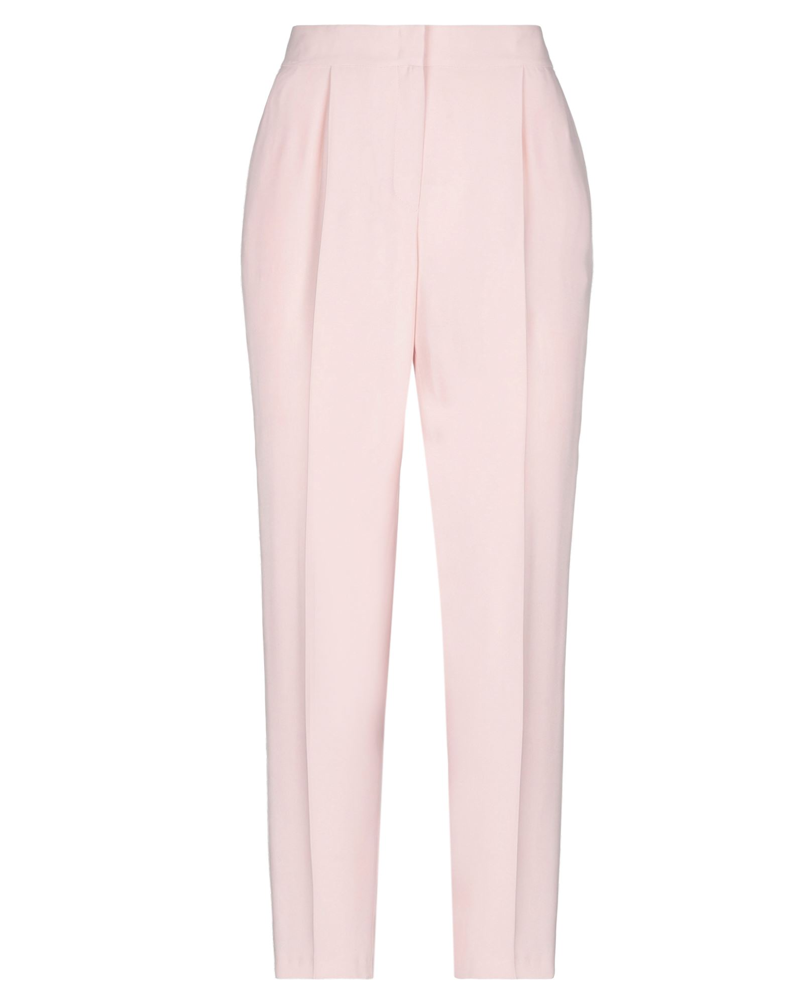 AKRIS PUNTO Casual pants. crepe, basic solid color, no appliqués, high waisted, regular fit, tapered leg, hook-and-bar, zip, multipockets. 52% Viscose, 48% Acetate