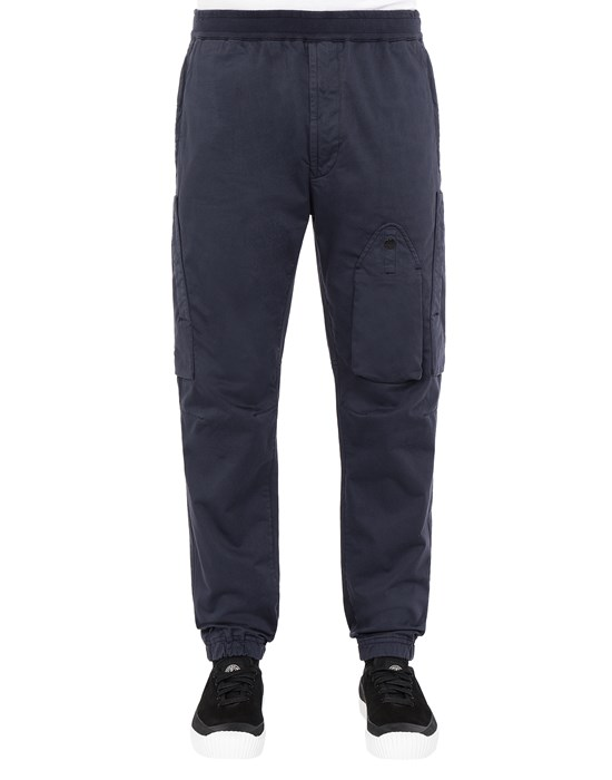 STONE ISLAND 31014 REGULAR PANTS Man Marine Blue