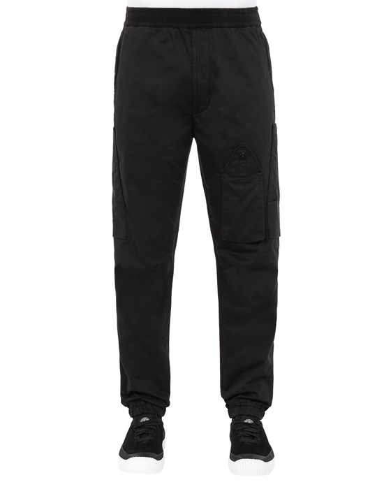 STONE ISLAND 31014 REGULAR PANTS Man Black