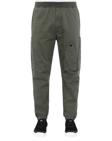 STONE ISLAND 31014 REGULAR PANTS Man Musk Green EUR 178