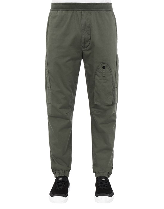 Sold out - STONE ISLAND 31014 REGULAR PANTS Man Musk Green