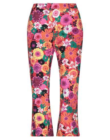 Джинсовые брюки-капри DONDUP. Цвет: красный