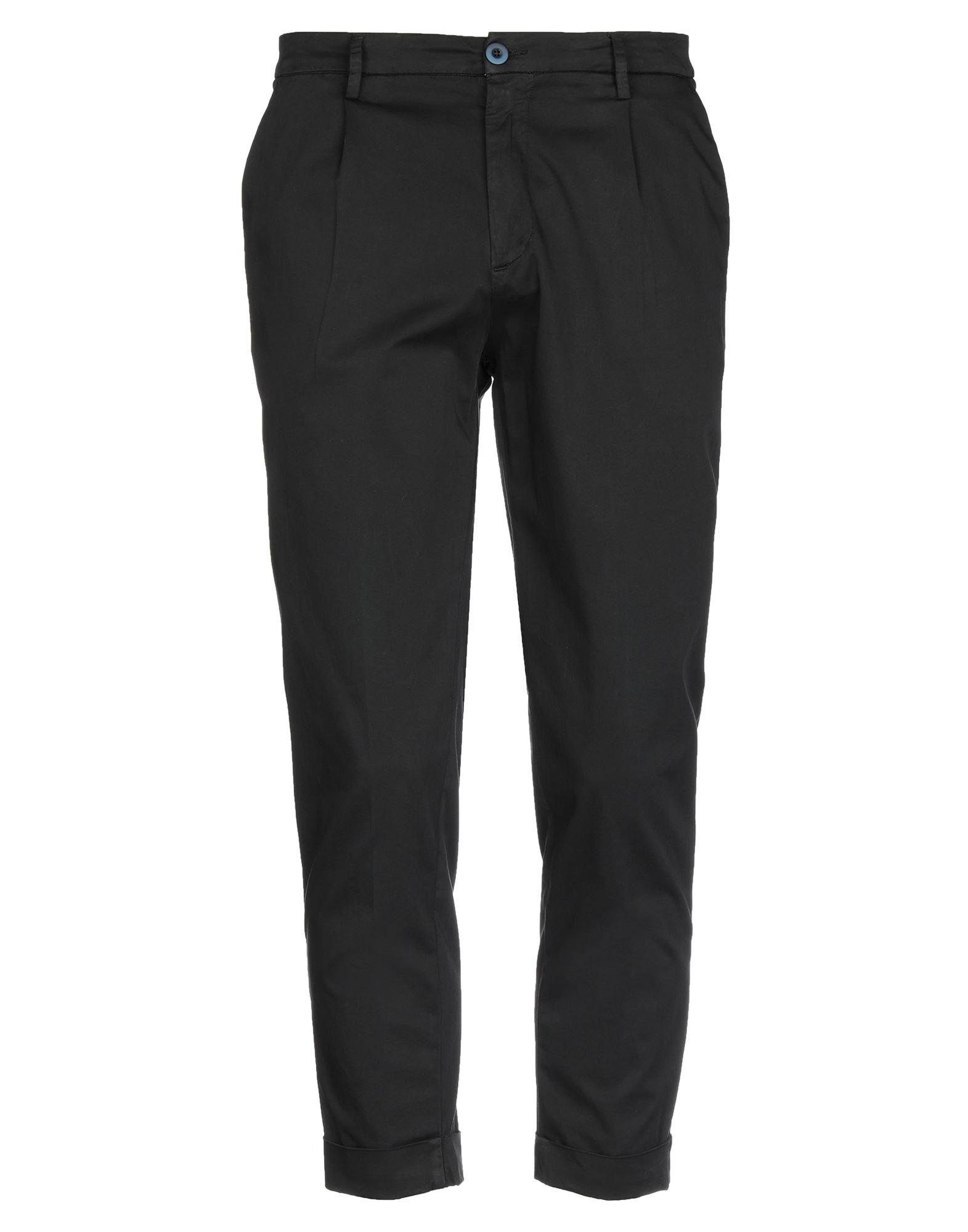 《セール開催中》BONHEUR メンズ パンツ ブラック 27 コットン 97% / ポリウレタン 3%