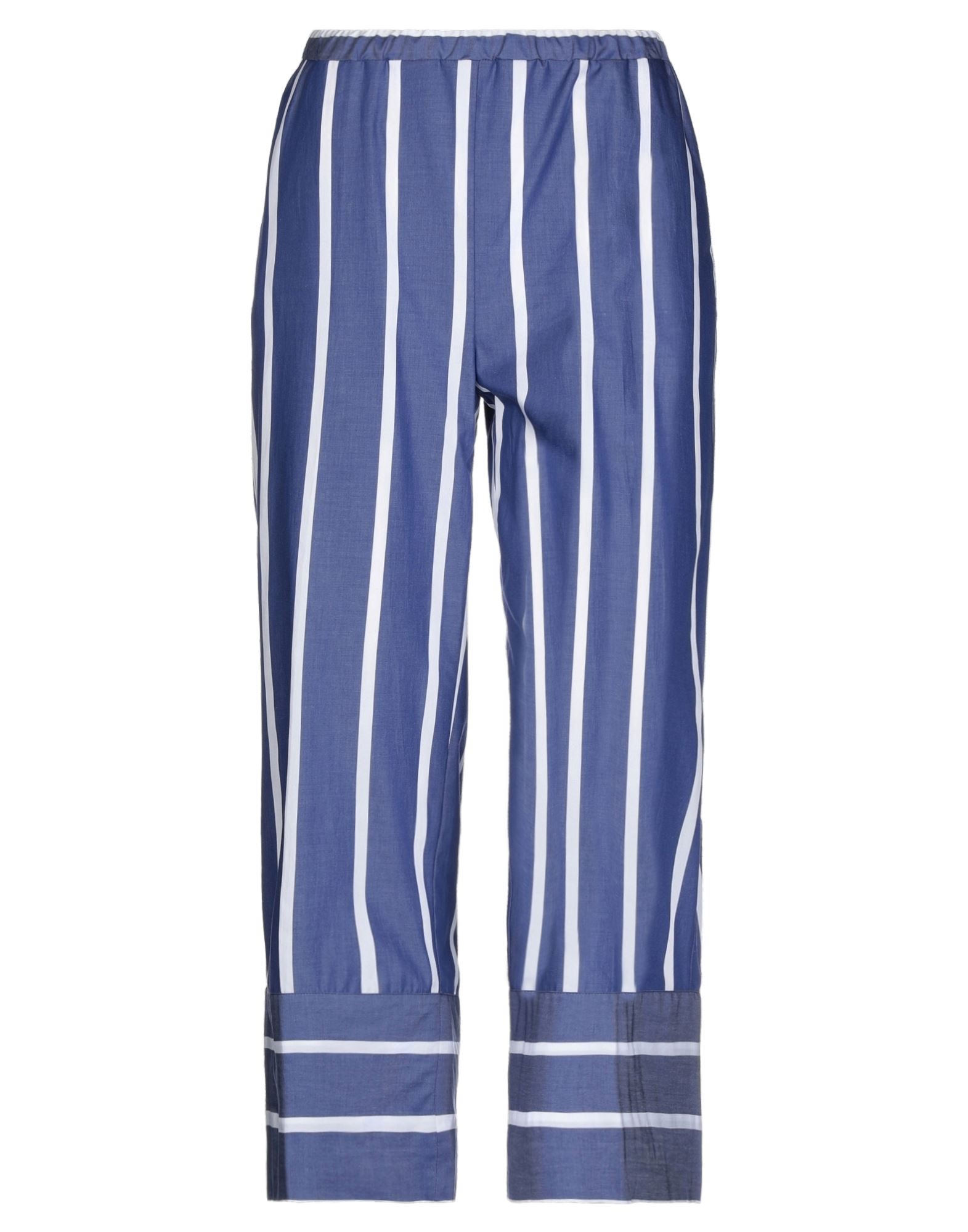 《セール開催中》CAMICETTASNOB レディース パンツ ブルー 42 コットン 100%