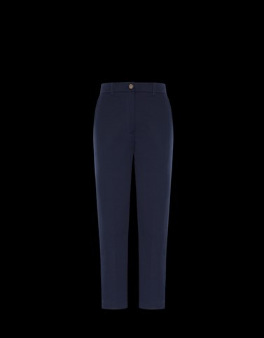 CASUAL TROUSER Dark blue Category Casual trousers Woman