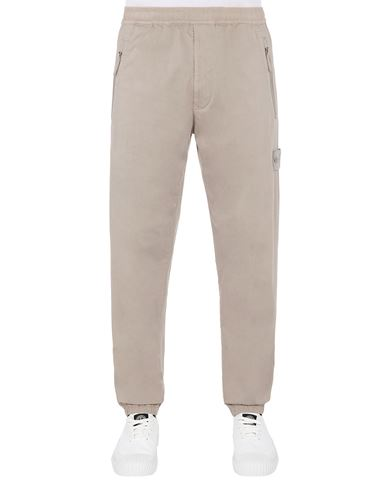 STONE ISLAND 317F2  GHOST PIECE_STRETCH COTTON WOOL SATIN  Pants Man Beige EUR 203
