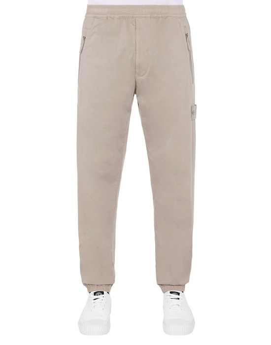 STONE ISLAND 317F2  GHOST PIECE_STRETCH COTTON WOOL SATIN  Trousers Man Beige