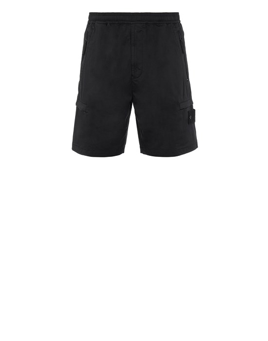 STONE ISLAND L06F2 GHOST PIECE  Bermuda shorts Man Black