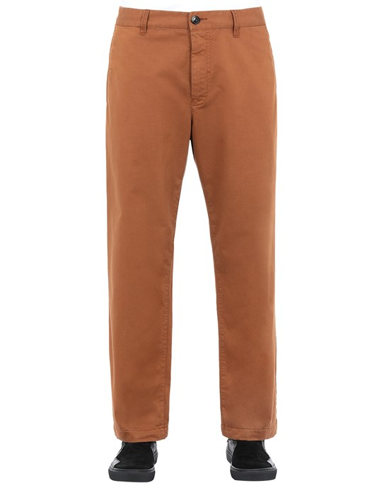 STONE ISLAND SHADOW PROJECT 30108 STRAIGHT TROUSERS TROUSERS Man Chestnut Brown