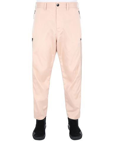 STONE ISLAND SHADOW PROJECT 30402 VENTED CHINOS TROUSERS Man Pastel pink USD 565