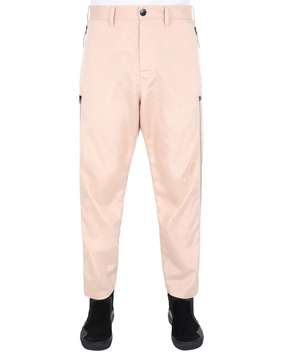 STONE ISLAND SHADOW PROJECT 30402 VENTED CHINOS TROUSERS Man Pastel pink