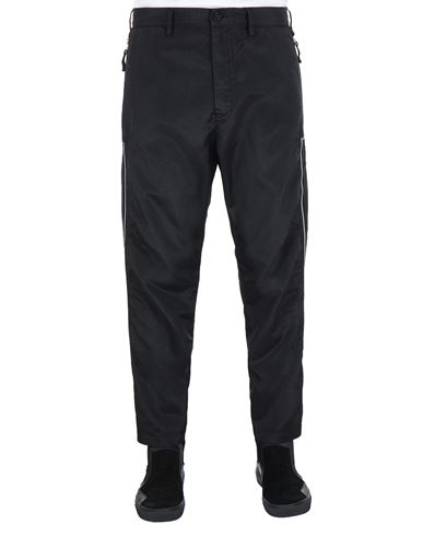 STONE ISLAND SHADOW PROJECT 30402 VENTED CHINOS TROUSERS Man Black EUR 403