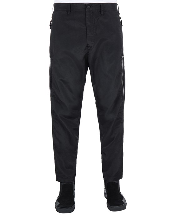 STONE ISLAND SHADOW PROJECT 30402 VENTED CHINOS TROUSERS Man Black