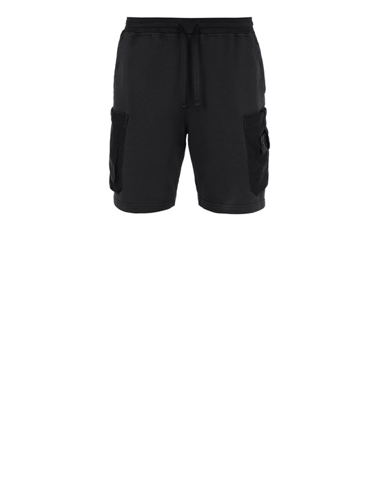 STONE ISLAND SHADOW PROJECT 60307 MESH POCKET SHORTS SHADOW PROJECT BERMUDA SHORTS Man Black