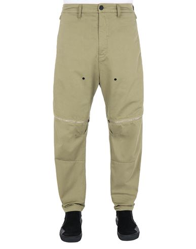 STONE ISLAND SHADOW PROJECT 30308 VENT PANEL TROUSERS TROUSERS Man Olive Green EUR 535