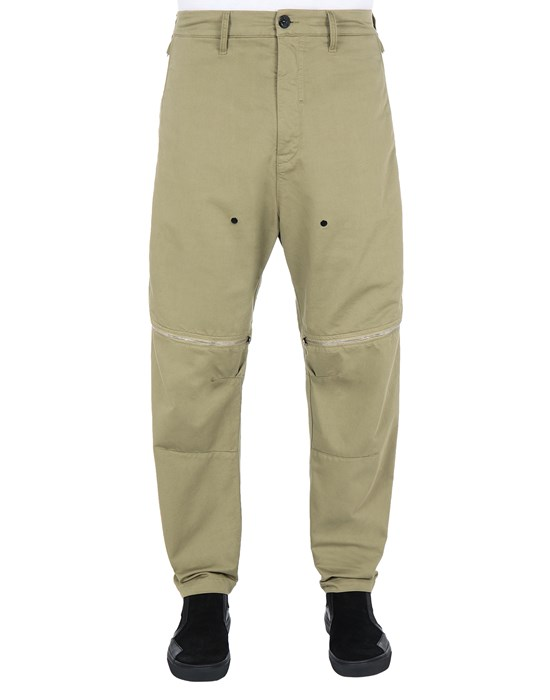 STONE ISLAND SHADOW PROJECT 30308 VENT PANEL TROUSERS TROUSERS Man Olive Green