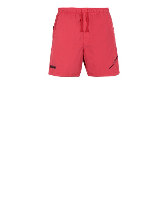 STONE ISLAND SHADOW PROJECT B0105 EMBROIDERED SWIM TRUNKS SHADOW PROJECT SWIM SHORTS Man Red