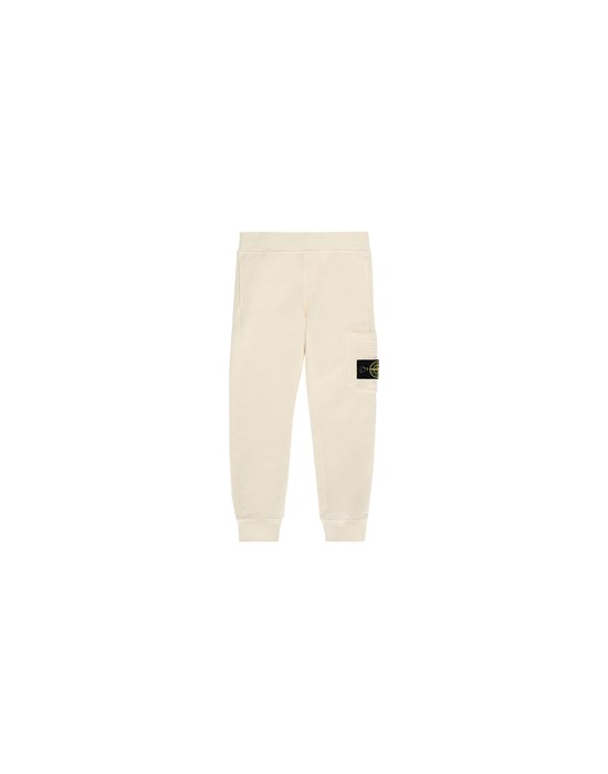 STONE ISLAND JUNIOR 61540 Fleece Trousers Man Beige