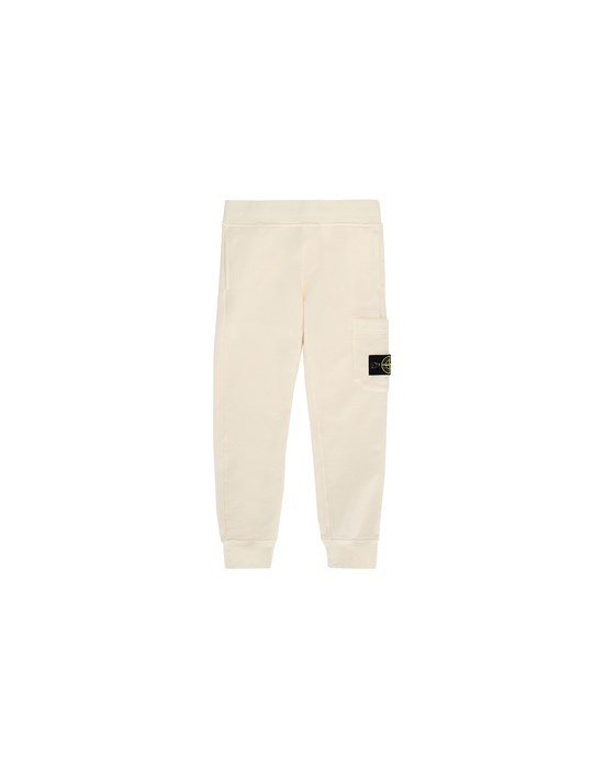 STONE ISLAND KIDS 61540 Fleece Pants Man Beige