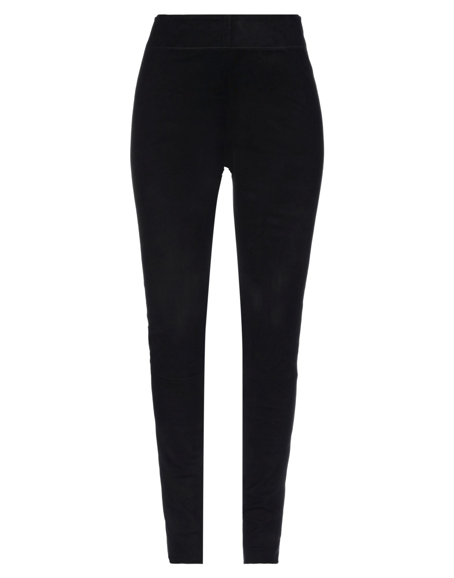 JIL SANDER Leggings. leather, basic solid color, suede effect, no appliqués, high waisted, slim fit, elasticized waist, no pockets, contains non-textile parts of animal origin, large sized. 100% Lambskin