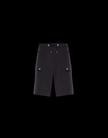 BERMUDA Black Trousers Man