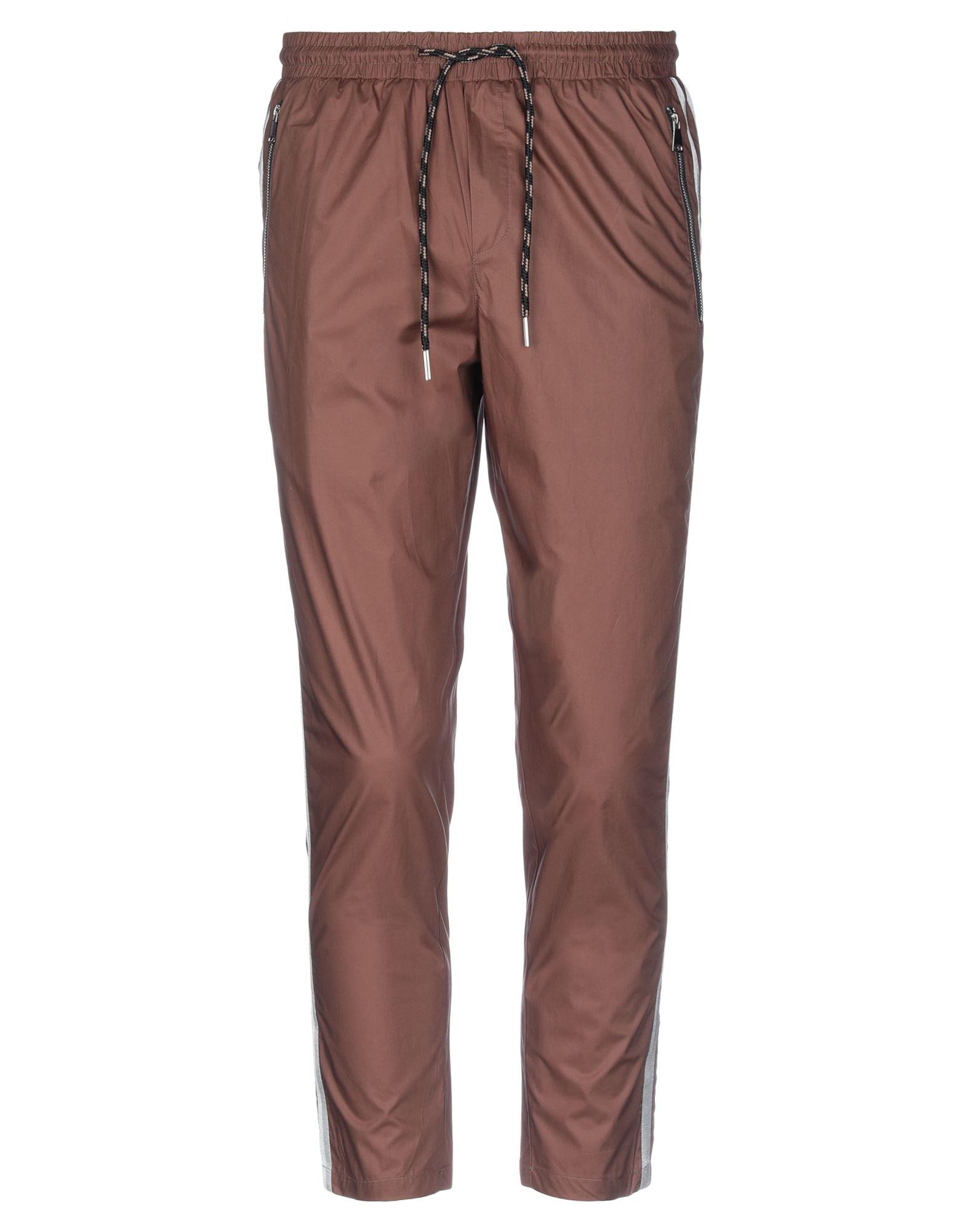 《セール開催中》YES LONDON メンズ カプリパンツ ブラウン M コットン 100%
