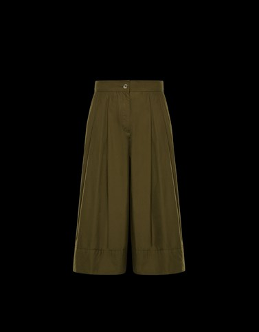 CASUAL TROUSER Military green Skirts and Trousers Woman