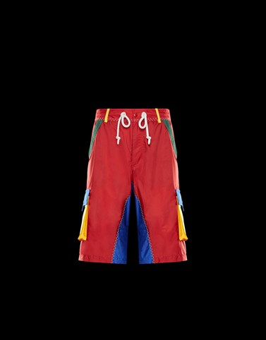 BERMUDA TROUSERS Red Genius Man