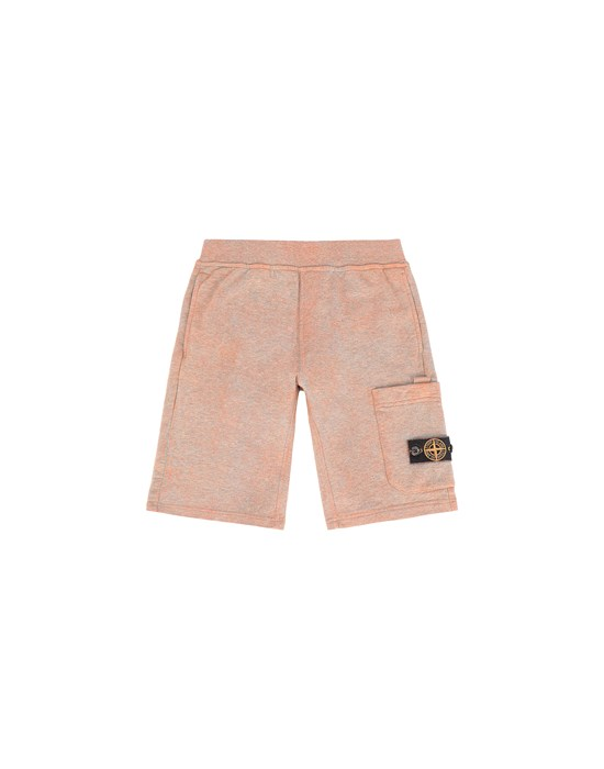 Fleece Bermuda Shorts Man 61244 DUST COLOUR TREATMENT Front STONE ISLAND JUNIOR