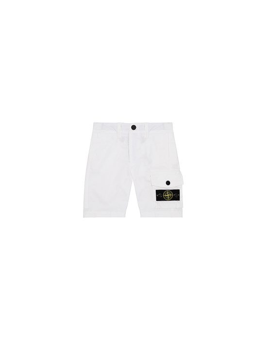 STONE ISLAND JUNIOR L0412 Bermuda shorts Man White