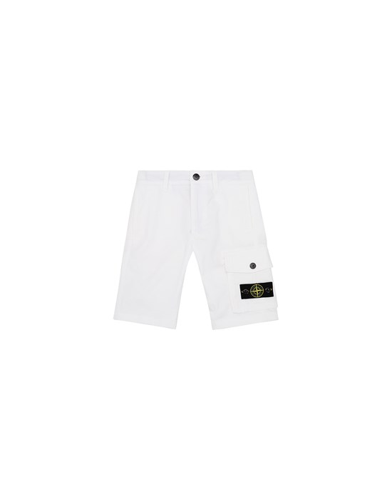 FLEECE BERMUDA SHORTS Man L0412 Front STONE ISLAND KIDS
