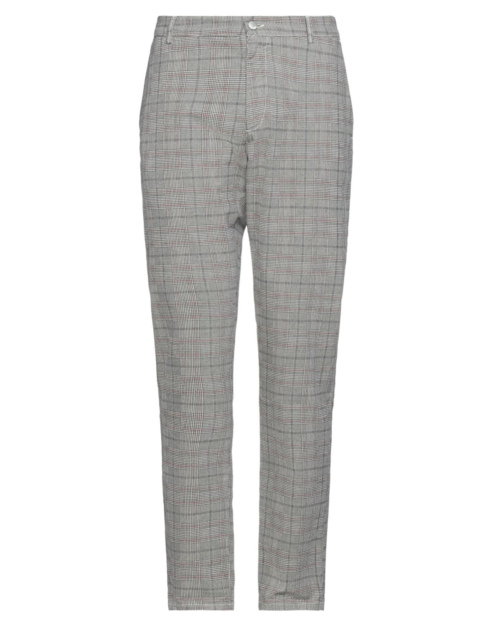 Grey Daniele Alessandrini Casual Pants In Gray