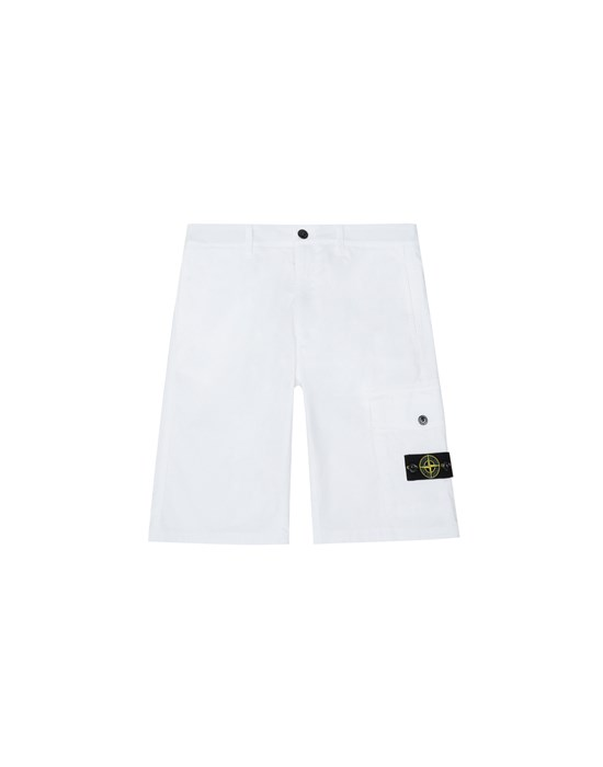 STONE ISLAND JUNIOR L0412 Bermuda Man White
