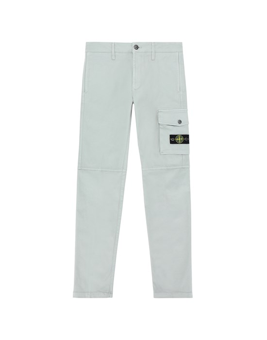 STONE ISLAND JUNIOR 30511 Fleece Bermuda Shorts Man Dust Gray