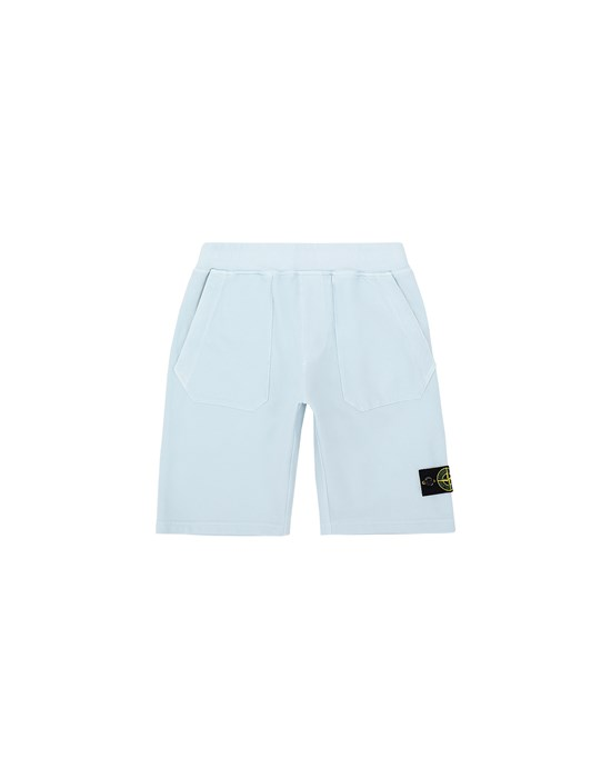 Fleece Bermuda Shorts Man 61442 Front STONE ISLAND JUNIOR