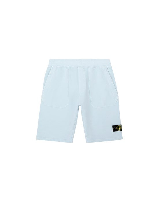 Fleece Bermuda Shorts Man 61442 Front STONE ISLAND TEEN