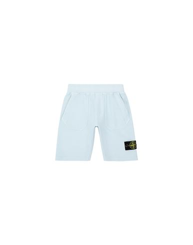 STONE ISLAND KIDS 61442 Fleece Bermuda Shorts Man Sky Blue EUR 125