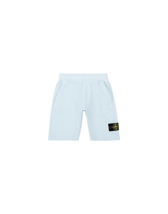 STONE ISLAND JUNIOR 61442 Fleece Bermuda Shorts Man Sky Blue