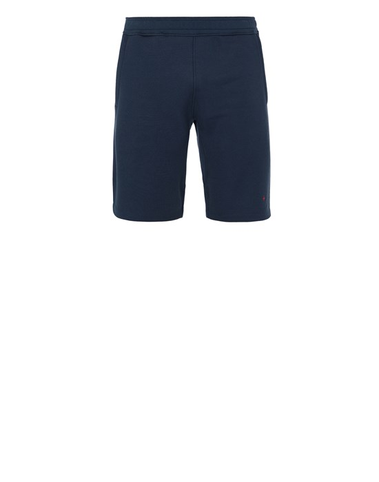 Fleece Bermuda Shorts Man 640X2 STONE ISLAND MARINA<br>COTTON/POLYESTER SEAQUAL® YARN FLEECE Front STONE ISLAND
