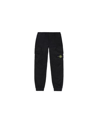 STONE ISLAND KIDS 30412 PANTS - 5 POCKETS Man Black EUR 189