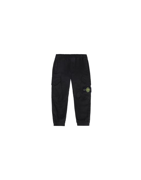 STONE ISLAND BABY 30412 PANTS - 5 POCKETS Man Black