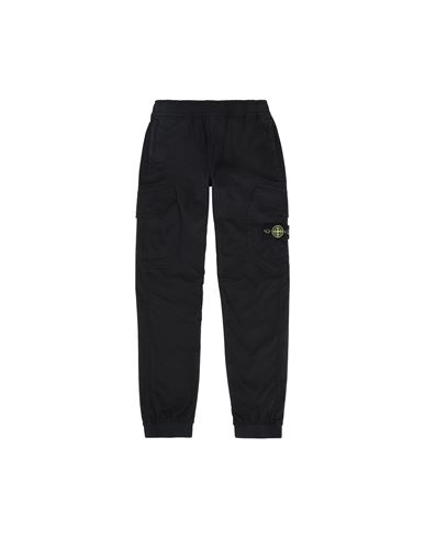STONE ISLAND JUNIOR 30412 TROUSERS - 5 POCKETS Man Black EUR 182
