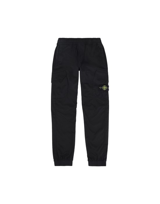 STONE ISLAND JUNIOR 30412 PANTS - 5 POCKETS Man Black