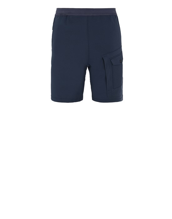 Bermuda shorts Man L15X4 STONE ISLAND MARINA<br>TWO WAYS STRETCH RECYCLED NYLON TWIL Front STONE ISLAND