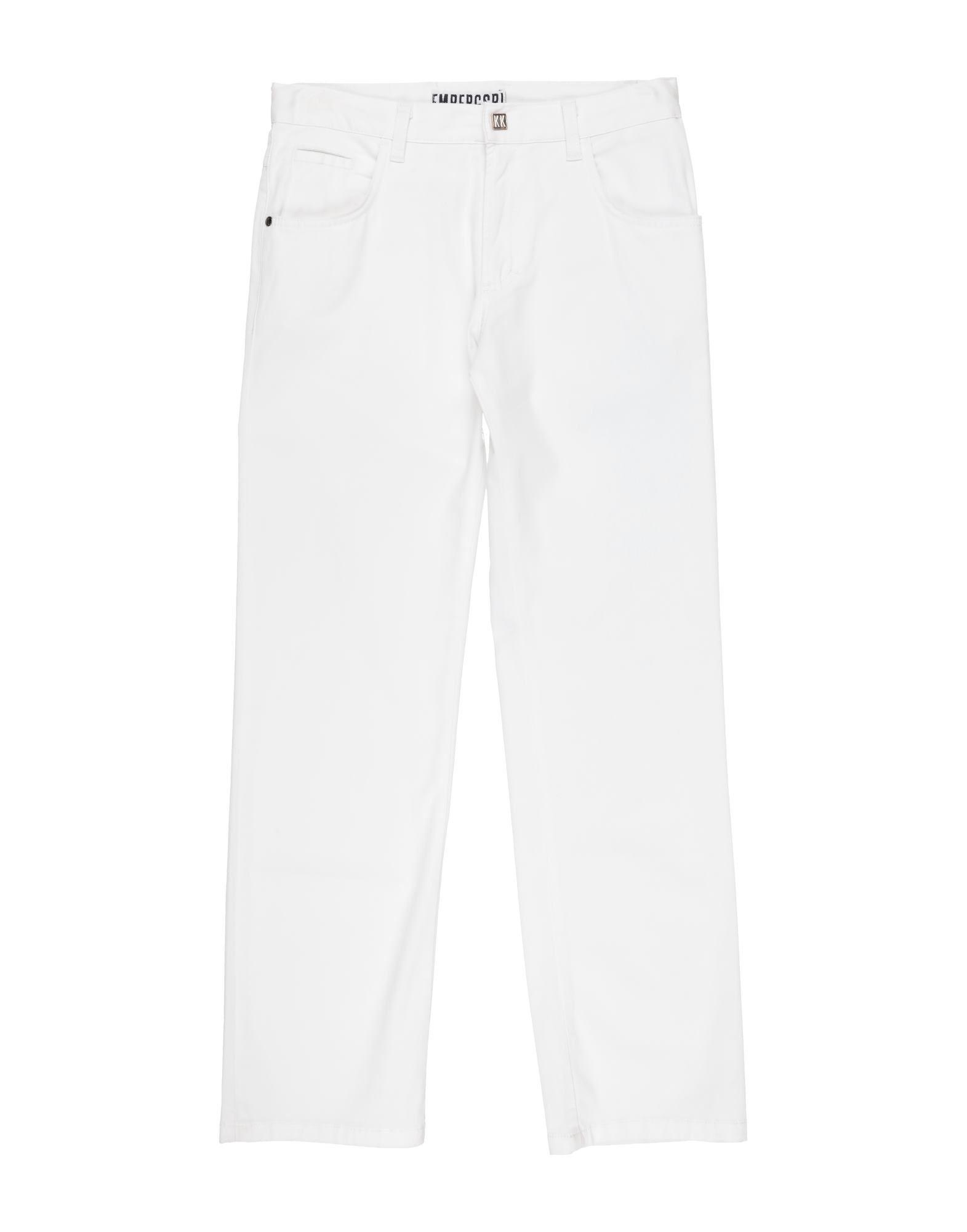 《セール開催中》BIKKEMBERGS ボーイズ 9-16 歳 パンツ ホワイト 12 コットン 97% / ポリウレタン 3%