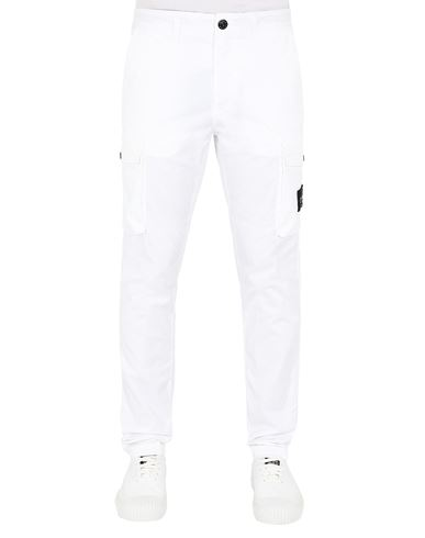 STONE ISLAND 31819 Trousers Man White EUR 275