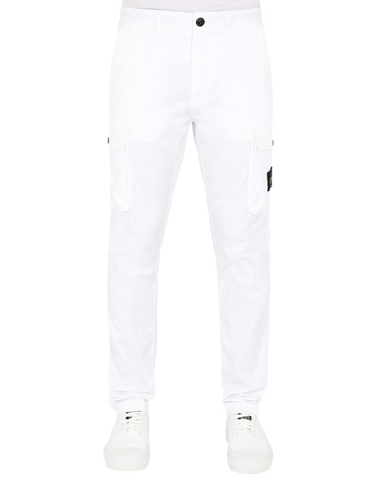 STONE ISLAND 31819 Trousers Man White