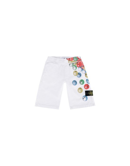 Fleece Bermuda Shorts Man 61940 BUBBLE GUM PRINT Front STONE ISLAND KIDS