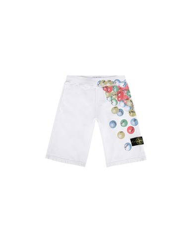 STONE ISLAND JUNIOR Bermuda shorts Man 61940 BUBBLE GUM PRINT f